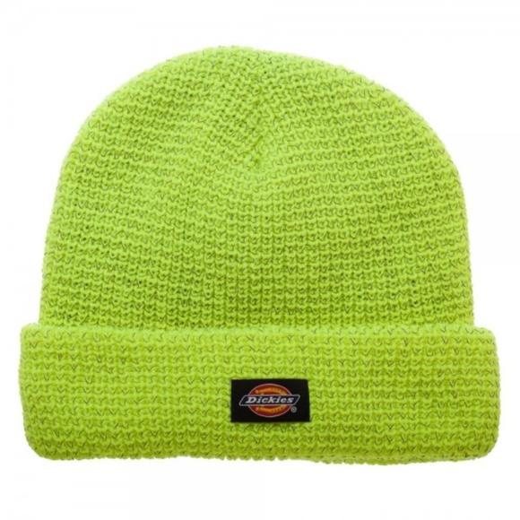 Dickies Reflective Yellow Safe Bright Beanie Hat 6bf9562abb4